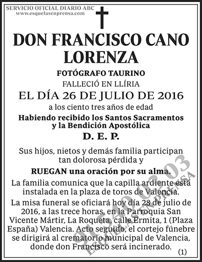 Francisco Cano Lorenza